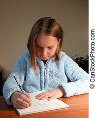 girl, étude, étudiant
