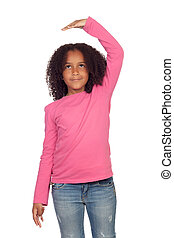girl, a, quel, mesurer, développé, africaine