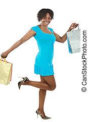 girl, achats, séduisant