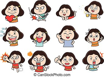 Girl acting cartoon