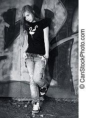 girl, adolescent, -