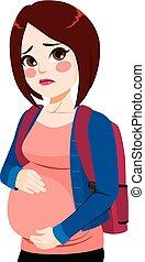 girl, adolescent, pregnant
