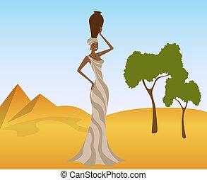 girl, africaine
