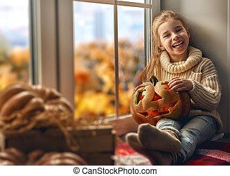 girl after Halloween.