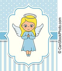 girl, agréable, ailes, ange