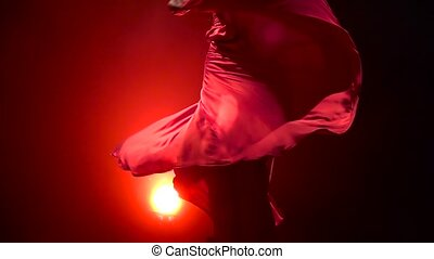 Girl an incendiary dance of Argentine flamenco . Llight from...