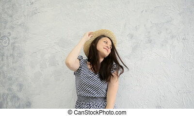 Girl and a straw hat