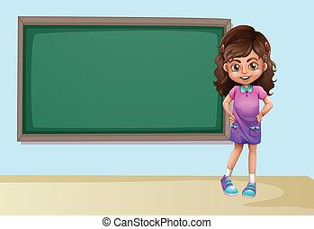 Girl and board