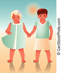 Girl and boy gradient