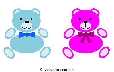 Girl and Boy Teddy Bears