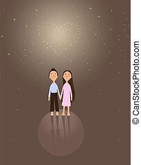 girl and boy valentine