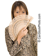 Girl and Fan 1