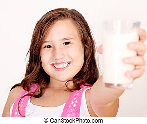 Girl and milk