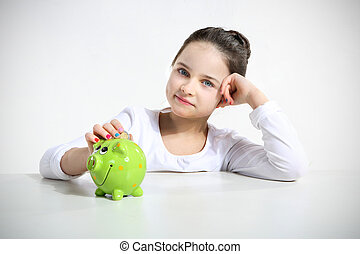 girl and savings