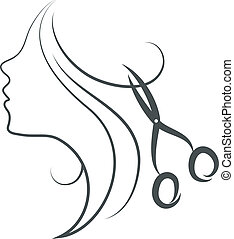girl and scissors design