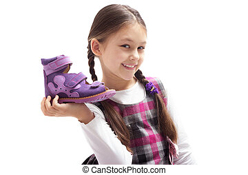 girl and shoes