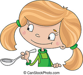 girl and spoon