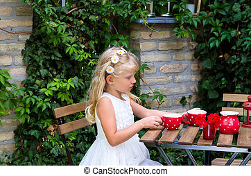 girl and tea time
