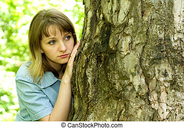Girl and tree