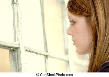 girl and windows