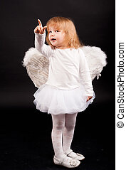 girl, ange blanc