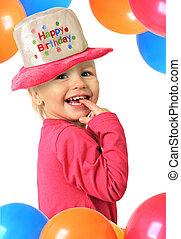 girl, anniversaire, heureux