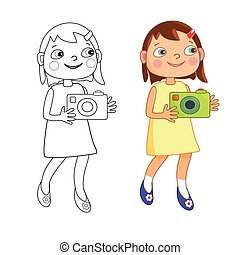 girl, appareil photo