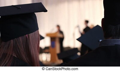 """""""Girl applauding to congratulate graduates on excellent accomplishment at school"""""""