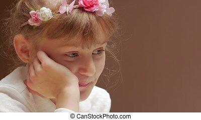 girl, apprentissage, peu, positif