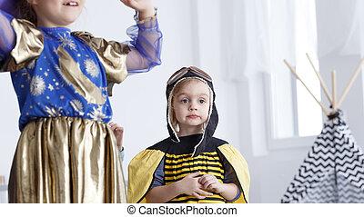 Girl as a bee
