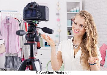 Girl as a vlogger