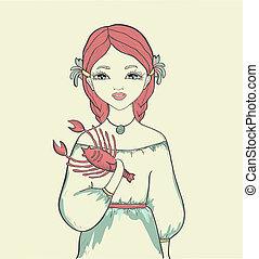 girl., astrological 印