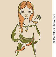 Girl. Astrological sign