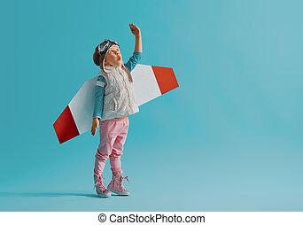 girl, astronaute, déguisement