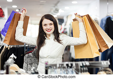 girl  at clothing  store