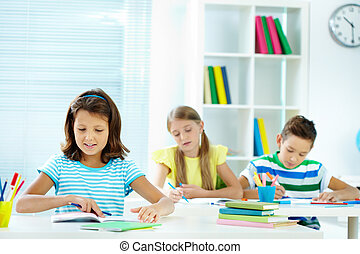 Girl at lesson