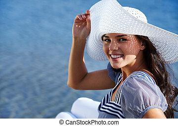 Girl at resort