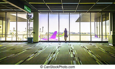 Girl at the airport