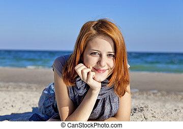 Girl at the beach.
