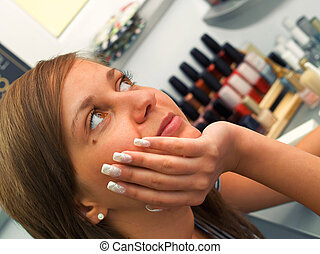 Girl at the Beauty Center