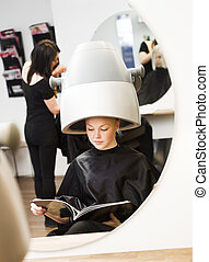 Girl at the Beauty Spa