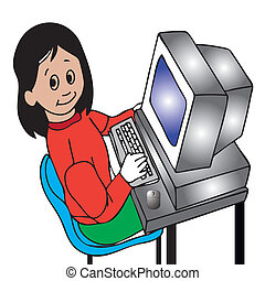 girl at the computer