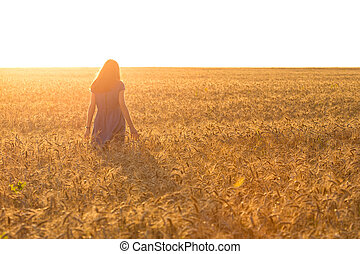 girl at the field