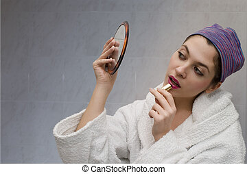 Girl-at-the-mirror