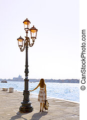 Girl at the venice