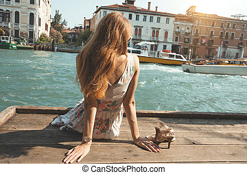 Girl at the venice. Italy