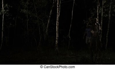 Girl attacked by sexual maniac in forest at night - Lost...