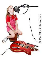 girl, audio, studio