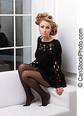 girl, avant-garde, coiffure