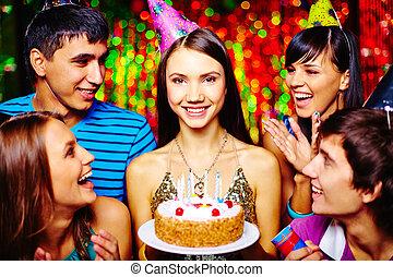 girl, avoir, anniversaire